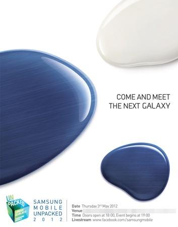Samsung invitación Come And Meet The Next Galaxy