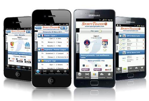 SportyTrader los resultados de fútbol, tenis y baloncesto en Android e iOS
