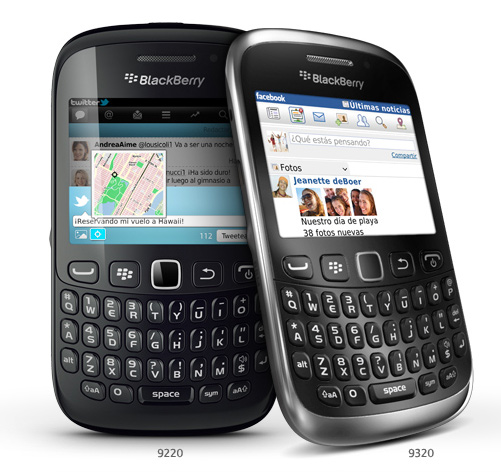 BlackBerry Curve 9320 y BlackBerry Curve 9220 pronto en México