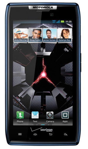 Motorola RAZR se presenta en azul
