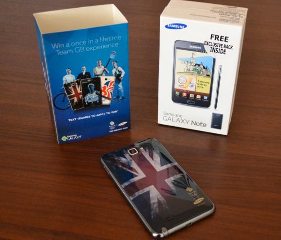 Samsung Galaxy Note edición para las Olimpiadas Londres 2012