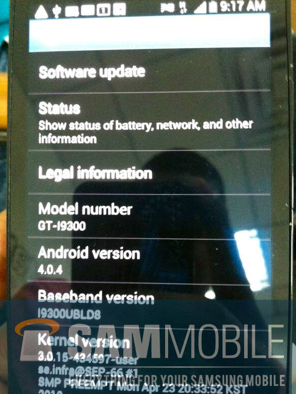 Samsung Galaxy S3 prototipo