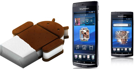 Sony Xperia Arc con Android Ice Cream Sandwich