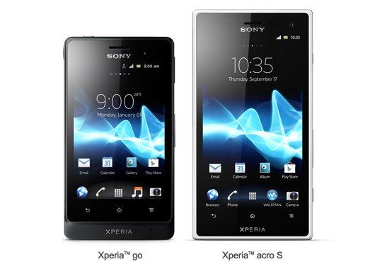 Sony Xperia go y Xperia acro S