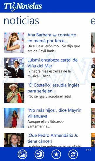 TVyNovelas app Nokia Lumia en México
