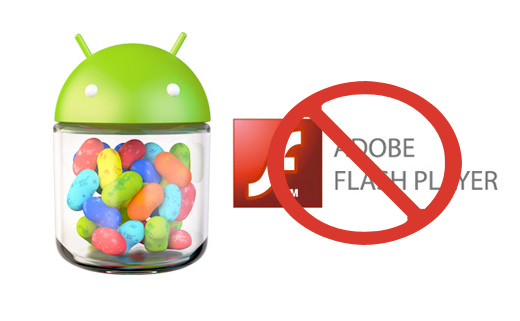 Sin Flash Player  Android Jelly Bean