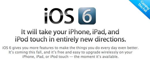 Apple presenta iOS 6 y sus nuevas opciones