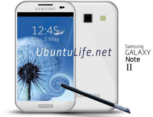 Samsung Galaxy Note 2 dibujo esbozo
