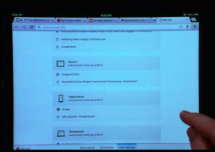 Google Chrome en iPad