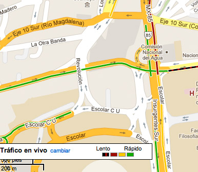 Google Maps ya indica el Tráfico en tiempo real para la Ciudad de México