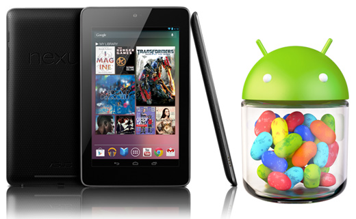 Google Nexus 7 y Android 4.1 Jelly Bean Logo