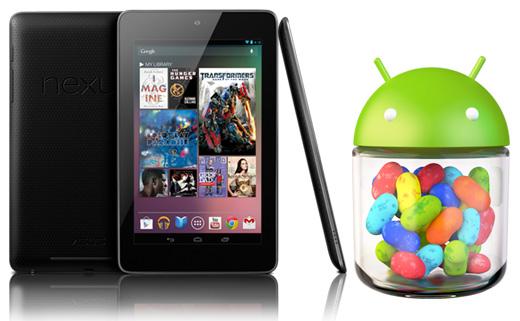 Google Nexus 7 y Android 4.1 Jelly Bean Logo
