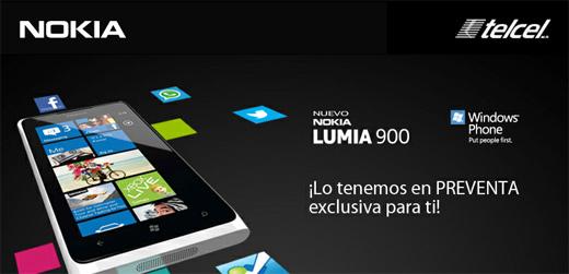 Nokia Lumia 900 ya en PREVENTA en Telcel