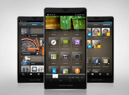 Sharp Aquos Fell UX interfaz de usuario en Android ICS