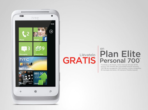 HTC Radar con Windows Phone Mango gratis en Iusacell