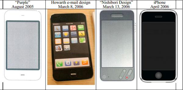 iPhone Apple Samsung prototipos