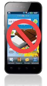 LG Optimus 2x y Optimus Black no recibirán Android Ice Cream Sandwich