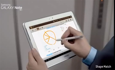 Samsung Galaxy Note 10.1 video comercial
