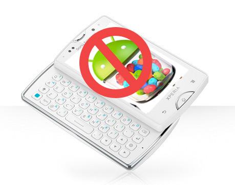 Xperias 2011 no recibirán Android Jelly Bean