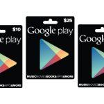 Google Play gift cards son oficialmente anunciadas