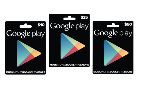 Google Play gift cards tarjetas de regalo