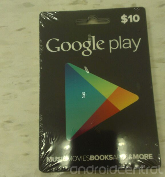 Google Play Store Gift Cards Tarjetas de Regalo