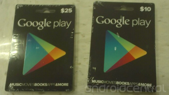 Google Play Store Gift Cards Tarjetas de Regalo