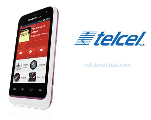 Motorola XT320 Defy mini rosa con blanco Telcel