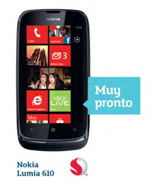 Nokia Lumia 610 pronto en Movistar México