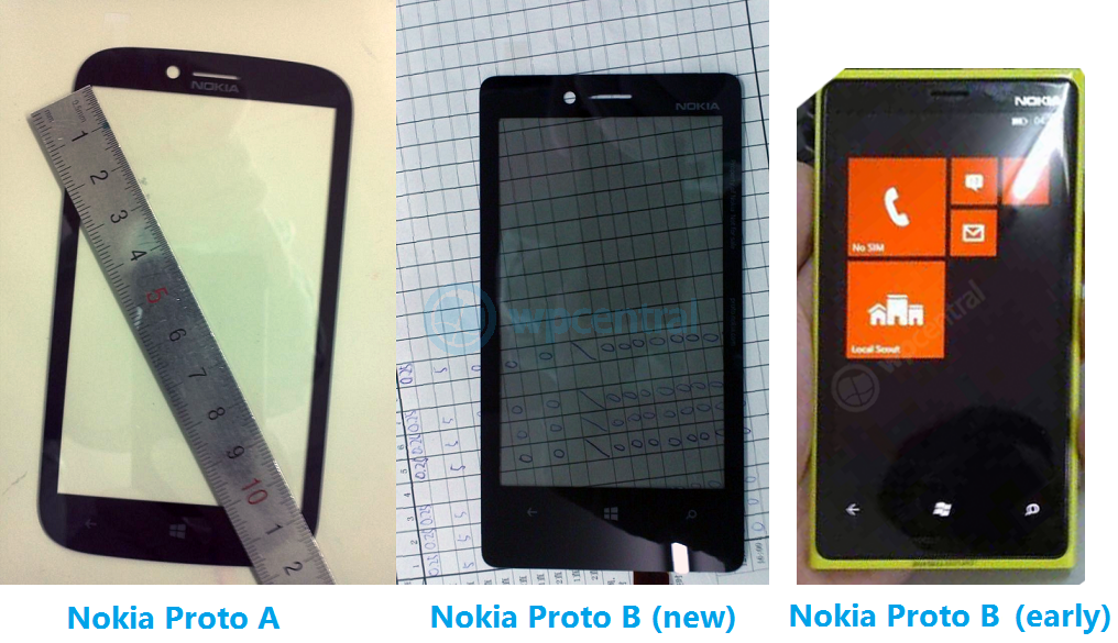 Pantallas de un Nokia con Windows Phone 8 prototipo