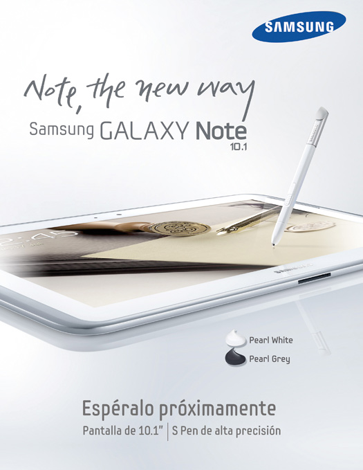 Samsung Galaxy Note 10.1 pronto en México