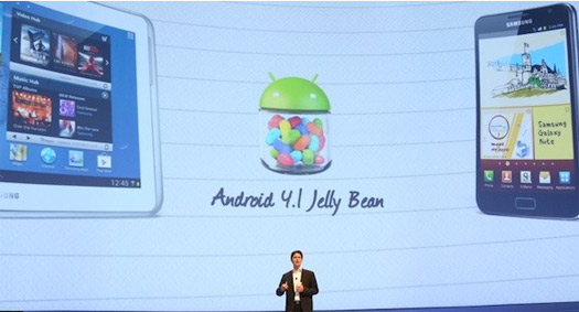 Samsung Galaxy S III, Note y Note 10.1 Android 4.1 Jelly Bean