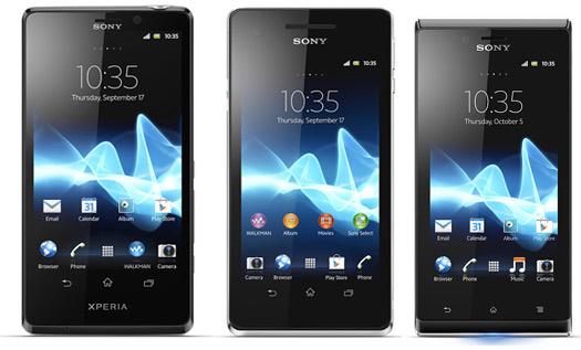 Sony Xperia T, Xperia V y Xperia J