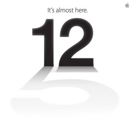 Invitación de Apple para presentación del iPhone 5 en septiembre 12