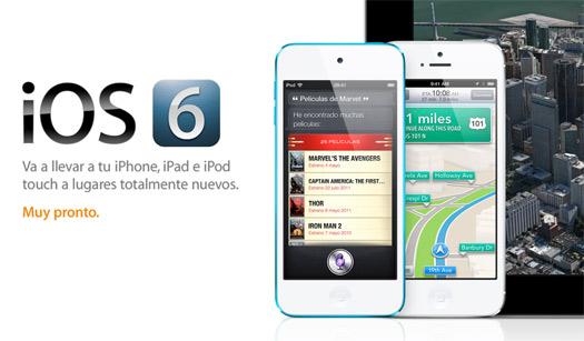iOS 6 llegará en septiembre 19