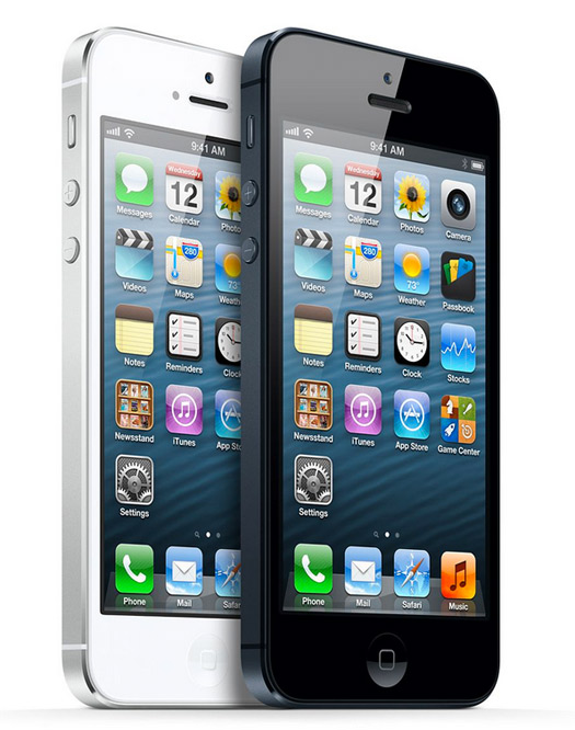 Apple iPhone 5 oficial, blanco y negro