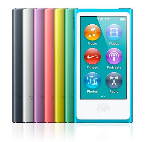 Nuevo iPod nano 2012 pantalla multi touch 2.5 pulgadas