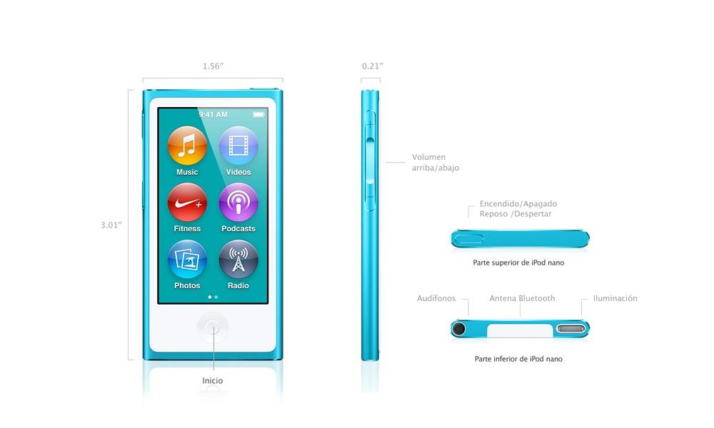 Nuevo iPod nano 2012 partes