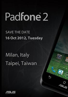 Asus Padfone 2 invitación a evento