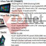 Se filtran precios de Tablets Asus con Windows 8 y RT