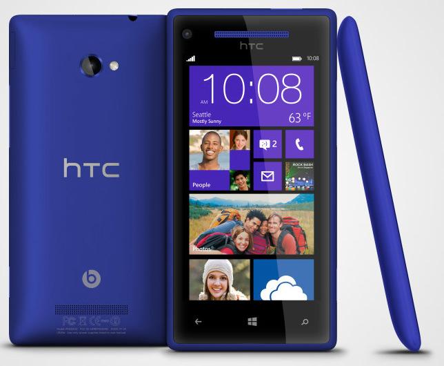 HTC 8X con Windows Phone 8 pantalla HD Azul California