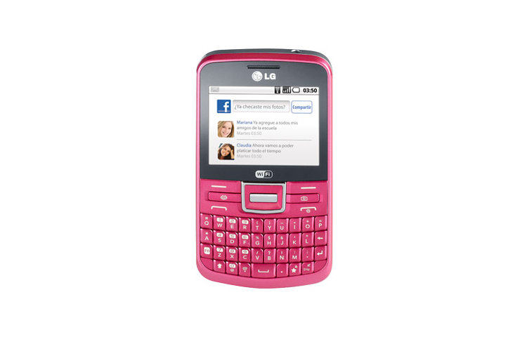LG C193 Text It Chat en México con Telcel color rosa