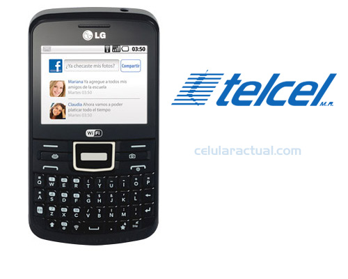 LG C193 Text It Chat en México con Telcel Logo