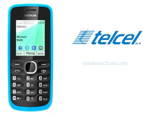 Nokia 111 en México con Telcel Logo