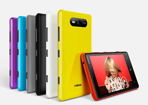Nokia Lumia 820 colores disponibles