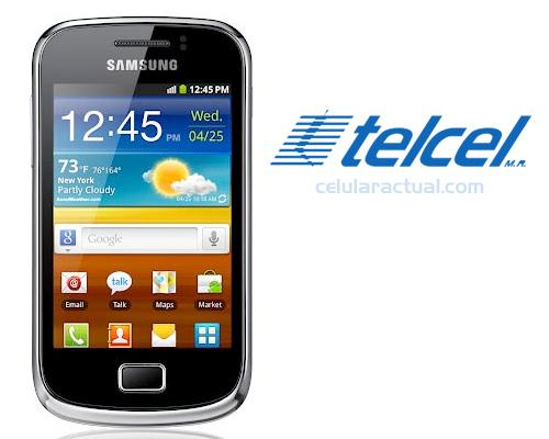 Samsung Galaxy Mini 2 en México con Telcel Logo