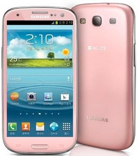 Samsung Galaxy S III color rosa pink