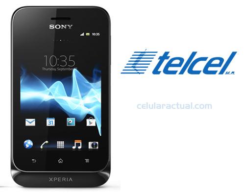 Sony Xperia Tipo en Telcel México Logo