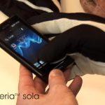 Sony Xperia sola estrena su Glove mode en Android ICS