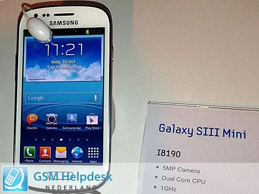 Samsung Galaxy S III mini en vivo y directo